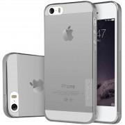 TPU чехол Nillkin Nature Series для Apple iPhone 5/5S/SE Серый (прозрачный)