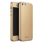 Чехол iPaky 360 градусов для Apple iPhone 5/5S/SE (+ стекло на экран) Золотой 16135