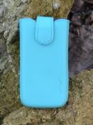 Кожаный футляр Mavis Premium для Nokia X / X+ / Apple iPhone 3G/S Бирюзовый 8532
