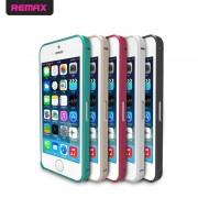 Металлический бампер Remax (винт) для Apple iPhone 5/5S/SE Малиновый 7993