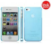 Пластиковая накладка IMAK 0,7 mm Color series для Apple iPhone 4/4S Бирюзовый 6115