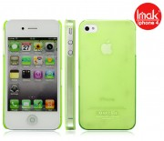 Пластиковая накладка IMAK 0,7 mm Color series для Apple iPhone 4/4S Лайм 6115