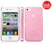 Пластиковая накладка IMAK 0,7 mm Color series для Apple iPhone 4/4S Розовый 6115
