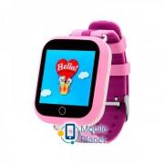 Детские часы с GPS QS100 (Q150) Pink (Розовый)