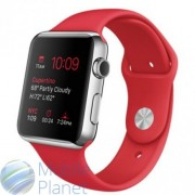 Apple Watch 38mm Stailnless Steel Case with (PRODUCT)RED Sport Band (MLLD2)