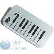 Чехол iPhone 4/4s ROCK Piano Bird Grey