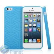 Чехол iPhone 5 GGMM Pure Ice насыщенно-голубой