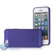 Чехол iPhone 5 GGMM Pure TPU Голубой Сиреневый Черный