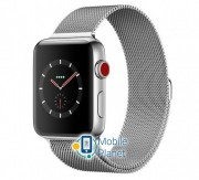 Apple Watch Series 3 (GPS + Cellular) 42mm Stainless Steel w. Milanese L. (MR1J2)