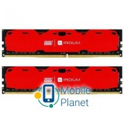 DDR4 16GB (2x8GB) 2400 MHz Iridium Red GOODRAM (IR-R2400D464L15S/16GDC)