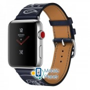 Apple Watch Hermes 42mm Series 3 GPS + Cellular Stainless Steel Case with Marine Gala Leather Single Tour Eperon dOr (MQX62)