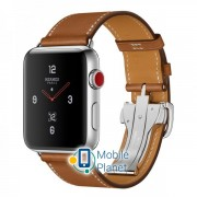 Apple Watch Hermes 42mm Series 3 GPS + Cellular Stainless Steel Case with Fauve Barenia Leather Single Tour Deployment Buckle (MQLR2)