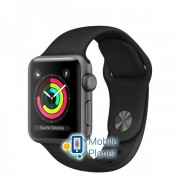 Apple Watch Series 3 (GPS) 38mm Space Gray Aluminum w. Black Sport B. - Space Gray (MQKV2)