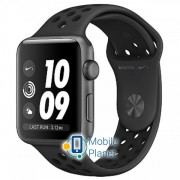 Apple Watch Nike Series 3 (GPS) 42mm Space Gray Aluminum w. Anthracite/BlackSport B. (MQL42)