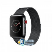 Apple Watch Series 3 (GPS Cellular) 38mm Space Black Stainless Steel w. Space Black Milanese L. (MR1H2)
