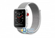 Apple Watch Series 3 (GPS Cellular) 38mm Silver Aluminum w. Seashell Sport L. (MQJR2)