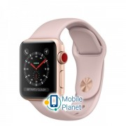 Apple Watch Series 3 (GPS Cellular) 42mm Gold Aluminum w. Pink Sand Sport L. (MQK72)