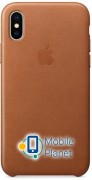 Аксессуар для iPhone Apple Leather Case Saddle Brown (MQTA2) for iPhone X