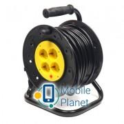 PowerPlant на катушке 25 м, 4 розетки (JY-2002/25) (PPRA10M250S4)