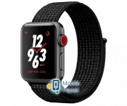 Apple Watch Nike Series 3 (GPS Cellular) 38mm Space Gray Aluminum w. Black/Pure PlatinumSport L. (MQL82)