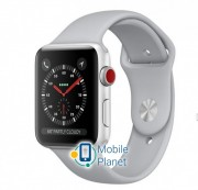 Apple Watch Series 3 (GPS Cellular) 38mm Silver Aluminum w. Fog Sport B. (MQJN2)