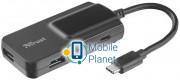 4-портовый концентратор Trust Oila 2+2 Port USB-С & USB 3.1. Hub (21321)