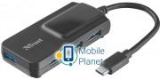 4-портовый концентратор Trust Oila TYPE-C to 4 Port USB 3.1 Hub (21319)