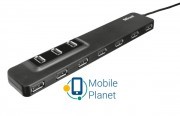 Концентратор Trust Oila 10port port USB 2.0 Hub (20575)