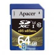 Apacer SDXC 64GB Class 10 UHS-I U3 (R95, W85MB/s) (AP64GSDXC10U4-R)