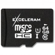 eXceleram 64Gb microSDXC class 10 UHS1 (MSD6410)