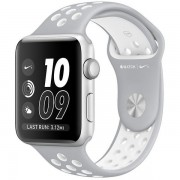 Apple Watch Nike+ 38mm Silver Aluminum Case with Silver/White Nike Sport Band MNNQ2