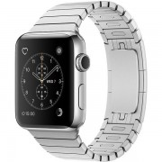 Apple Watch Series 2 38mm Stainless Steel Case with Silver Link Bracelet Band MNP52