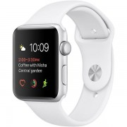 Apple Watch Series 2 42mm Silver Aluminum Case with White Sport Band MNPJ2