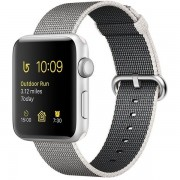 Apple Watch Series 2 42mm Silver Aluminum Case with Pearl Woven Nylon Band MNPK2