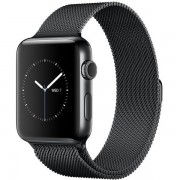 Apple Watch Series 2 42mm Space Black Stainless Steel Case with Space Black Milanese Loop Band MNQ12
