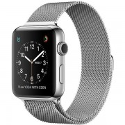 Apple Watch Series 2 42mm Stainless Steel Case with Milanese Loop Band MNPU2