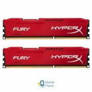 DDR3 8Gb (2x4GB) 1600 MHz HyperX Fury Red Kingston (HX316C10FRK2/8)