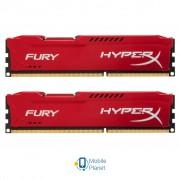 DDR3 8Gb (2x4GB) 1866 MHz HyperX Fury Red Kingston (HX318C10FRK2/8)