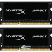 SoDIMM DDR3 8GB (2x4GB) 1600 MHz HyperX Impact Kingston (HX316LS9IBK2/8)