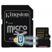 Kingston 64GB microSDXC class 10 UHS-I U3 4K (SDCG/64GB)