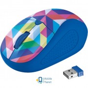 Trust Primo Wireless Mouse blue geometry (21480)