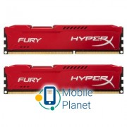 DDR3 16Gb (2x8GB) 1600 MHz HyperX Fury Red Kingston (HX316C10FRK2/16)