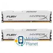 DDR3 16Gb (2x8GB) 1600 MHz HyperX Fury White Kingston (HX316C10FWK2/16)