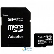 Silicon Power 32Gb microSDHC class 10 (SP032GBSTH010V10SP)