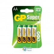 AA LR6 Super Alcaline * 4 GP (GP15A3 / GP15APCTL-2UE4 / GP15APCRC-2UE4)