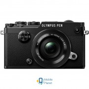 OLYMPUS PEN-F Pancake Zoom 14-42 Kit black/black (V204061BE000)