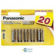 PANASONIC AAA LR03 Alkaline Power * 20 (LR03REB/20BW)