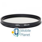 Светофильтр PowerPlant CPL 58 мм (CPLF58)