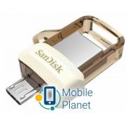 SANDISK 32GB Ultra Dual Drive m3.0 White-Gold USB 3.0/OTG (SDDD3-032G-G46GW)