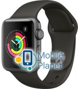 Apple Watch Series 3 38mm Space Gray Aluminum Case with Black Sport Band (MR352)